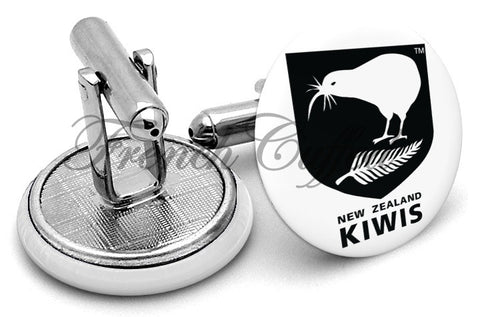 New Zealand Kiwis League Cufflinks - Angled View