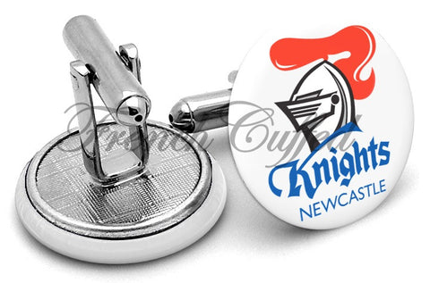 Newcastle Knights Cufflinks - Angled View