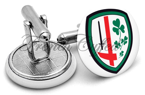 London Irish Cufflinks - Angled View
