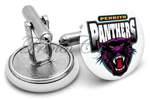 Penrith Panthers Cufflinks - Angled View