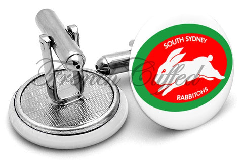 South Sydney Rabbitohs Cufflinks - Angled View