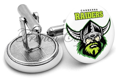 Canberra Raiders Cufflinks - Angled View