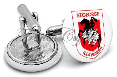 St George Illawarra Alternate Cufflinks - Angled View