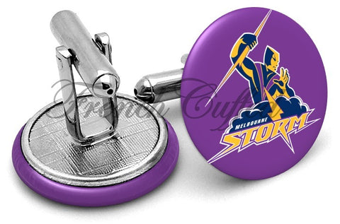 Melbourne Storm Cufflinks - Angled View