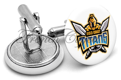 Gold Coast Titans Cufflinks - Angled View