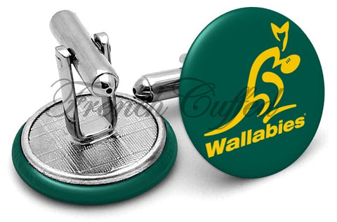 Wallabies Australia Rugby Cufflinks - Angled View