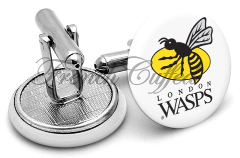 London Wasps Cufflinks - Angled View