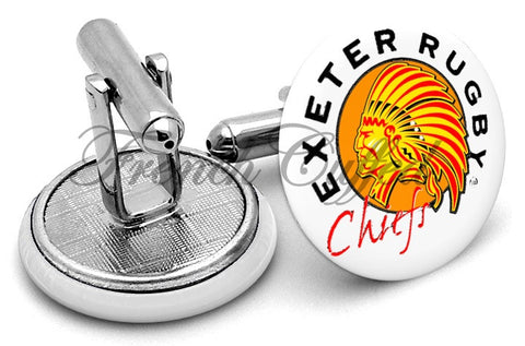 Exeter Chiefs Cufflinks - Angled View