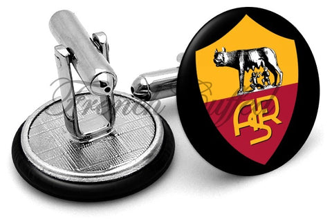 AS Roma Cufflinks - Angled View