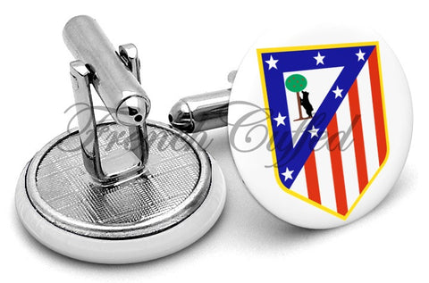 Athletico Madrid Cufflinks - Angled View
