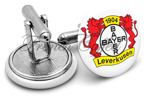 Bayer 04 Leverkusen Cufflinks - Angled View