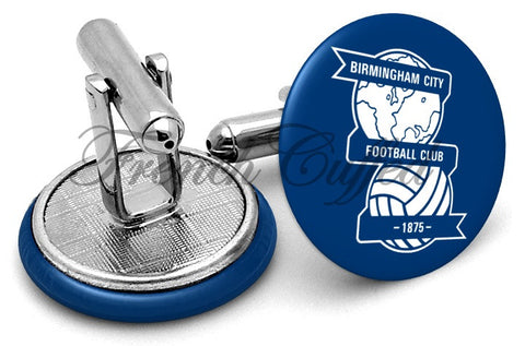 Birmingham City Football Club Cufflinks - Angled View