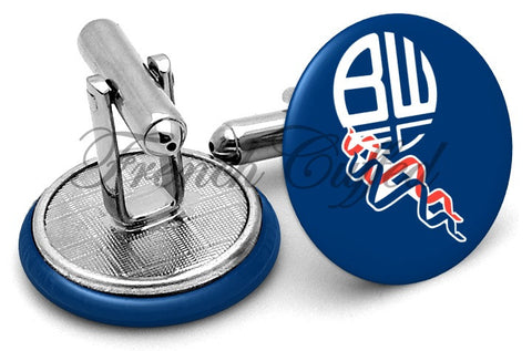 Bolton Wanderers FC Cufflinks - Angled View