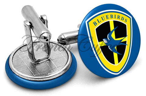 Cardiff City Bluebirds FC Cufflinks - Angled View