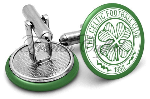 Celtic FC Cufflinks - Angled View