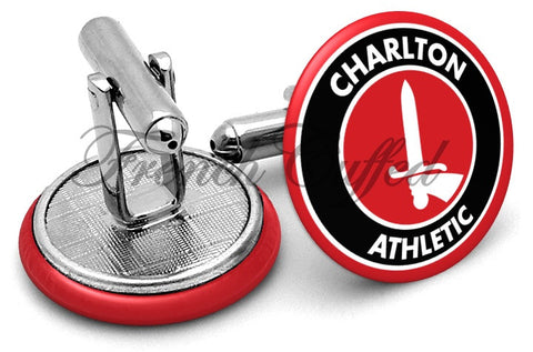 Charlton Athletic Cufflinks - Angled View