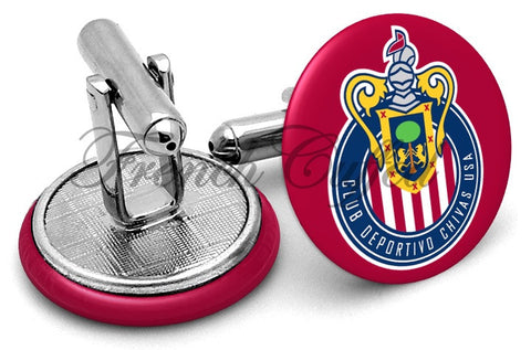 Club Deportivo Chivas USA Cufflinks - Angled View