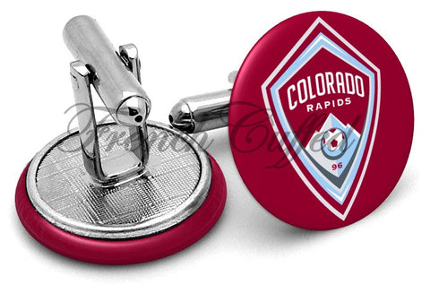 Colorado Rapids Cufflinks - Angled View