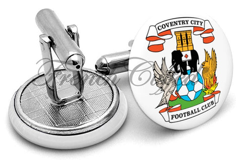 Coventry City Cufflinks - Angled View