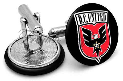 DC United Cufflinks - Angled View