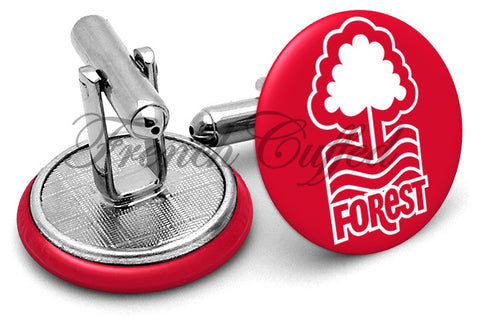 Nottingham Forest Cufflinks - Angled View