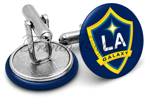Los Angeles Galaxy Cufflinks - Angled View