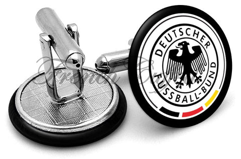 Germany National Football Cufflinks - Angled View