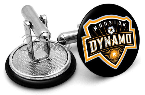 Houston Dynamo Cufflinks - Angled View