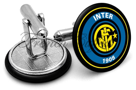 Inter Milan Cufflinks - Angled View