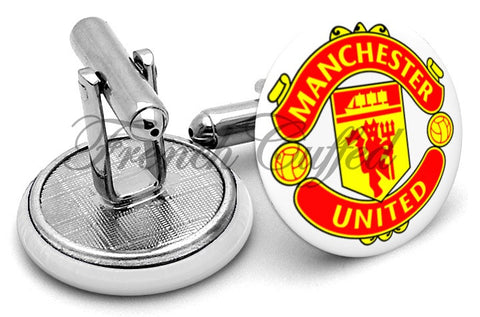 Manchester United Alternate Cufflinks - Angled View
