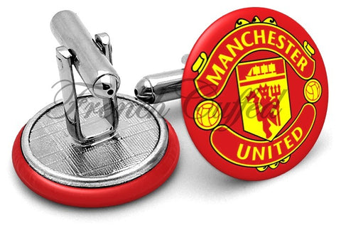 Manchester United Cufflinks - Angled View