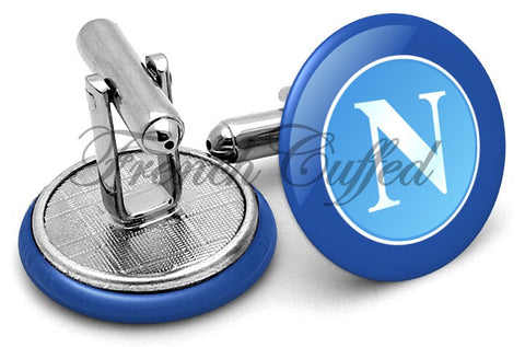 Napoli Football Club Cufflinks - Angled View
