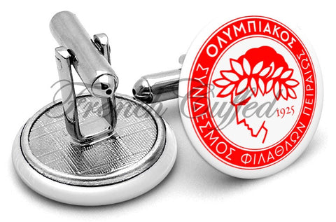 Olympiacos Football Club Cufflinks - Angled View