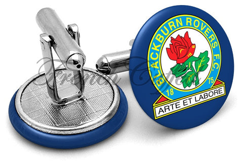 Blackburn Rovers Cufflinks - Angled View