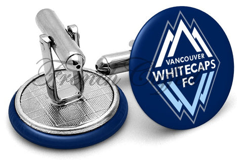 Vancouver Whitecaps FC Cufflinks - Angled View