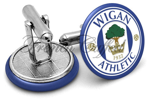 Wigan Athletic Cufflinks - Angled View