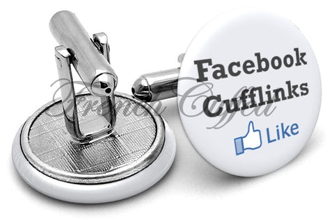 Facebook Like Cufflinks - Angled View