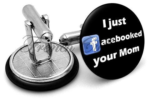Facebook Mom Cufflinks - Angled View