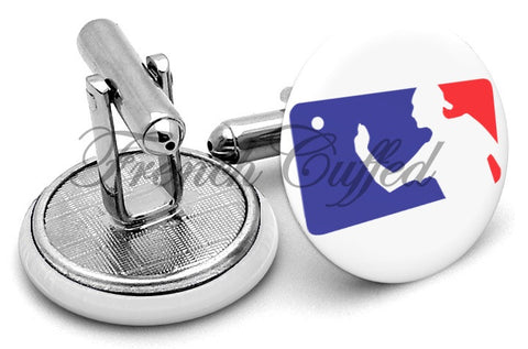 Beer Pong Logo Cufflinks - Angled View