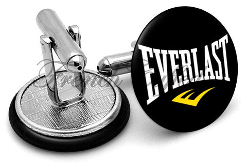 Everlast Logo Cufflinks - Angled View