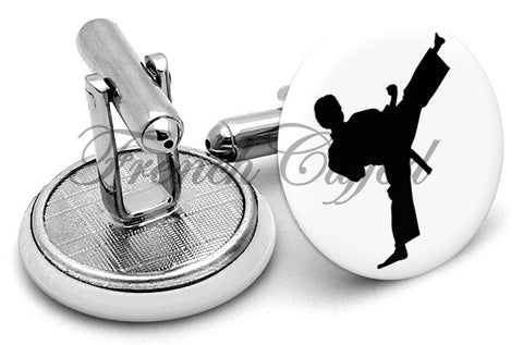 High Kick Cufflinks - Angled View
