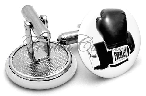Everlast Boxing Gloves Cufflinks - Angled View