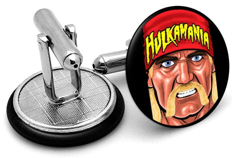 Hulk Hogan Wrestling Cufflinks - Angled View