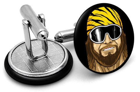 Macho Man Wrestling Cufflinks - Angled View