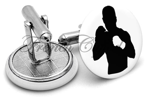 Mixed Martial Arts Cufflinks - Angled View