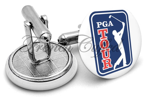 PGA Tour Golf Cufflinks - Angled View