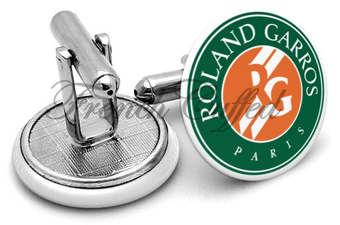 Roland Garros French Open Cufflinks - Angled View