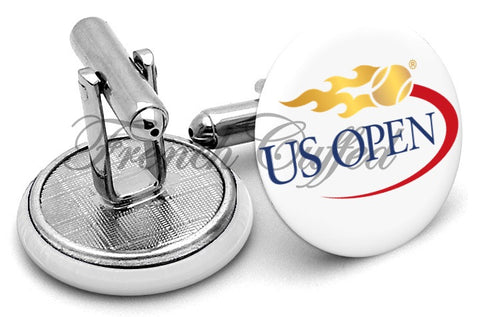 US Open Logo Cufflinks - Angled View