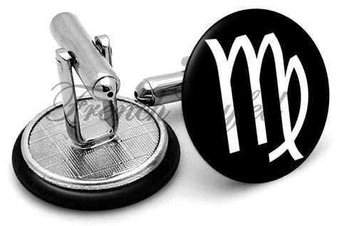 Virgo Symbol Cufflinks - Angled View