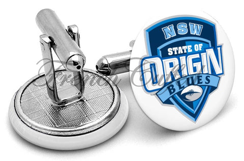 NSW State of Origin Cufflinks - Angled View